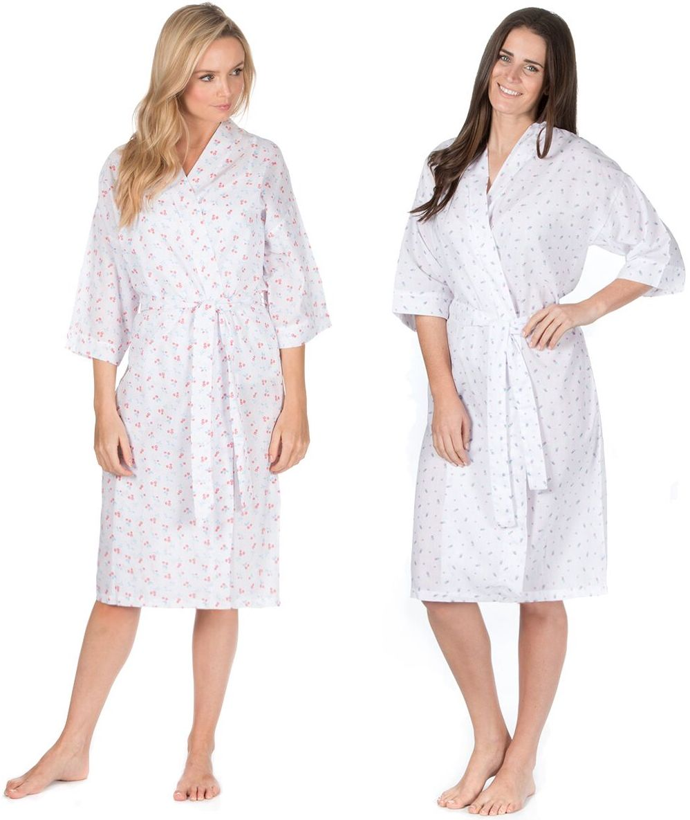 Wholesale 34B672 Ladies Cotton Dressing Gown | Wholesaler Nightwear ...