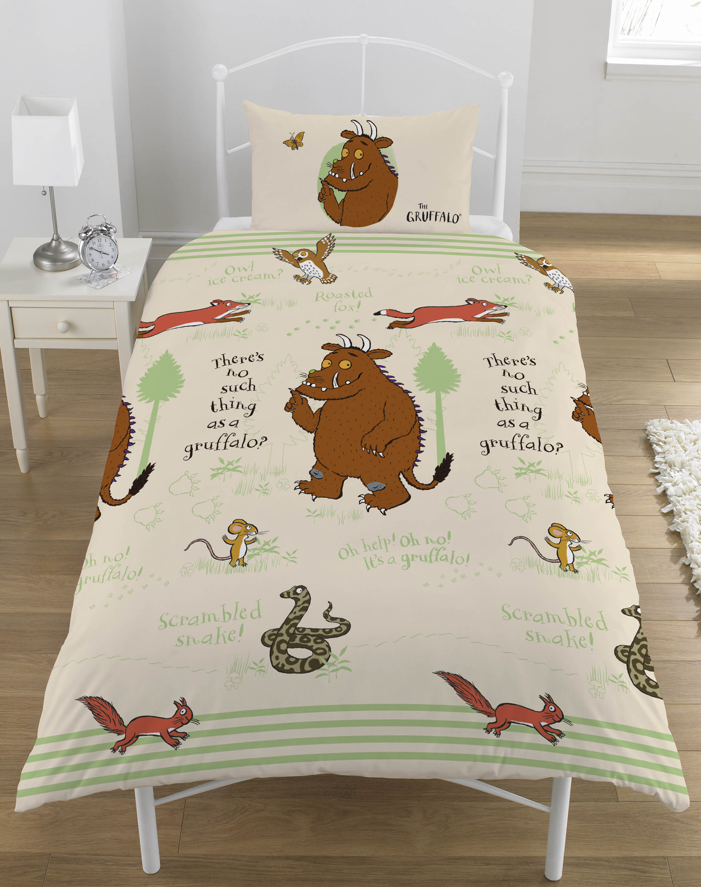 Wholesale Gruffalo Woodland Scene Single Duvet Cover
