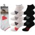 Mens Big Foot Stripe Trainer Socks