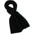 SC-508 Adults Black Polar Fleece Scarf