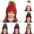 HAi-619 Ladies Chunky Cable Knitted Pom Pom Hats