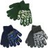 GL111 Childrens Thermal Magic Camouflage Gripper Gloves