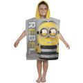Despicable Me Minions Jailbird Hooded Towel Poncho