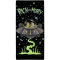 Rick and Morty UFO Spaceship Beach Towel