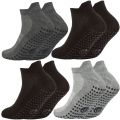 40B502 Mens Gripper Sole Trainer Liner Socks