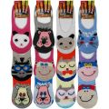 Girls Animal Invisible Trainer Liner Socks