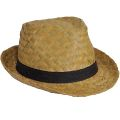 Adults Classic Straw Trilby Hat