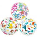 "InTex 20"" Lively Print Inflatable Beach Pool Ball"