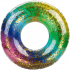 Glitter Filled Rainbow Inflatable Swim Ring 24 inch