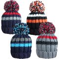 HAi-412 Boys Chunky Knitted Bobble Ski Hats