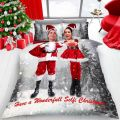 Christmas Selfies Double Duvet Cover Bedding Set