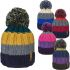 HAi-403 Adults Rockjock Knitted Bobble Hat