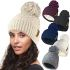 HAi-404 Ladies Rockjock Cable Bobble Hat