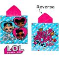 5060595500014 Girls L.O.L. Surprise Character Hooded Towel Poncho