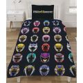 Power Rangers Helmets Single Duvet Cover Set