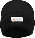 Ladies Black 3M Thinsulate Insulated Thermal Hat