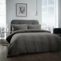 5051346360971 Waffle Charcoal Double Duvet Cover Set