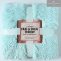 5051346163350 Hug Snug Duck Egg Fluffy Blanket Throw